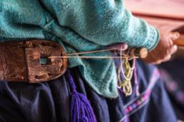 backstrap loom in Aldama, Mexico